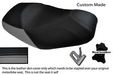 GREY & BLACK CUSTOM FITS PIAGGIO MP3 125 250 300 400 500 DUAL LEATHER SEAT COVER