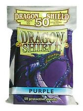 50 PROTECTIVE SLEEVES Purple Viola MTG Dragon Shield