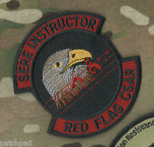 AIR FORCE RED FLAG EXERCISE SERE RETURN w/HONOR TRAINING INSTRUCTOR VELCRO SSI