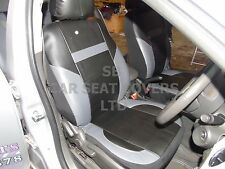 i - TO FIT A PEUGEOT 406 CAR, S/ COVERS, PVC LEATHER, BLACK/grey 59.99