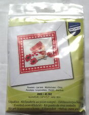 Red Bowls Counted Cross Stitch Kit, Vervaco, Gift