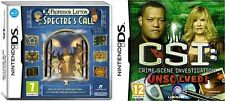 Professor Layton Spectre's Call & CSI: Unsolved    new&sealed