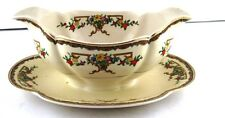 Gravy Boat Attached Underplate Johnson Brothers Pareek Riviera Crazing 1931