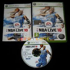 NBA LIVE 10 XBOX 360 Versione Ufficiale Italiana 1ª Edizione ••••• COMPLETO