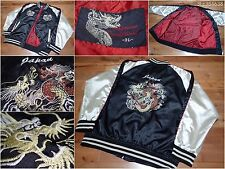 SUKAJAN Souvenir satin bomber baseball jacket ( japanese XXL ) Dragon JAPAN dada