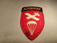 WWII VINTAGE Airborne Airborn Command Patch w Attached Tab