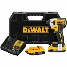 DEWALT DCF887D2 2.0 AH 20V MAX XR 1/4 in. 3-Speed Impact Driver Kit