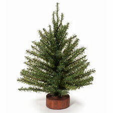 "Darice Artificial Tabletop Tree -Christmas Mix Pine Non-Lit Wood Base 12"" #MC871"