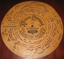 """Disco Di Cartone """" VICTORIA POLONAISE-VON N° 1611 """" Per Organetto A Manovella"""