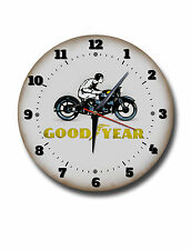 "GOODYEAR 250MM/10"" DIAMETER METAL WALL CLOCK,GARAGE CLOCK.WORKSHOP CLOCK"