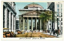 Montreal QC -EARLY AUTOS AT BANK OF MONTREAL- Postcard Canada