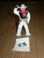 ca 1960'S BARCLAY DIMESTORE LEAD TOY SOLDIER Cowboy in White #53