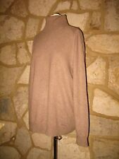 New Gap Ladies Size XL Pure Cashmere Taupe Roll Neck Long Sleeves Jumper