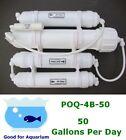 0PPM Portable 50 GPD Reverse Osmosis RO DI Filtration water system POQ-4B-50