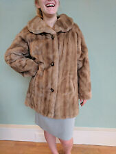 Vintage Neiman Marcus Women's Faux Mink Fur Swing Coat / Jacket