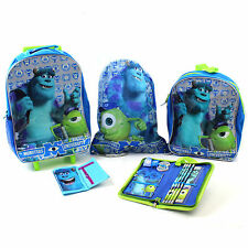 Kids Luggage Set Monsters University School Holiday Suitcase Backpack Gym Bag