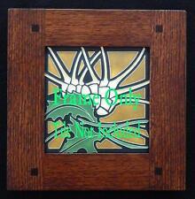 6x6 Arts & Crafts Morris Oak Motawi Tile Frame, Ravenstone, Medicine Bluff