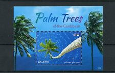 St Kitts 2015 MNH Palm Trees of Caribbean 1v S/S Coconut Palm Flora