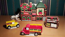"""Coco Cola Town Square Collection """"Bottling Company"""" w/ Cars & News Stand"""
