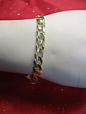 14K YELLOW GOLD -SOLID - CURB LINK BRACELET - A NICE ONE!