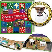 Die Weihnachtsgeschichte - wunderschönes Pop Up-Buch mit zusätzl. Bastel-Krippe