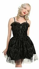 Nwt Hell Bunny Lavintage Mini Dress Size L Goth Steampunk Vampire Vintage Punk