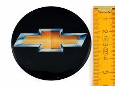 CHEVROLET * 4 pezzi silicone * ø55mm ADESIVO EMBLEMA ADESIVI CERCHIONI COPRI RUOTA