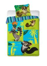 KING JULIEN MORT PENGUINS of MADAGASCAR Single Bed Duvet Cover Set 100% COTTON