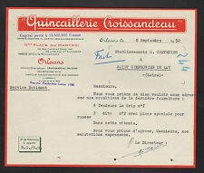 """ORLEANS (45) QUINCAILLERIE """"CROISSANDEAU"""" en 1950"""