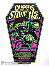 Dirty Donny Queens of the Stone Age Silkscreen Concert Poster 2007 Flocked Book