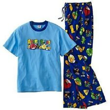 "ANGRY BIRDS Pajamas Set Shirt Lounge Pants NeW Men's Large  36""-38"" Pjs"