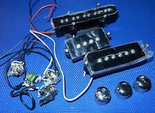 no name: 5 Saiter Jazz P Style BASS  Pickup Set Bridge &  Neck & Pots / Knobs