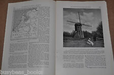 1923 magazine article about HOLLAND, people, geography etc Netherlands