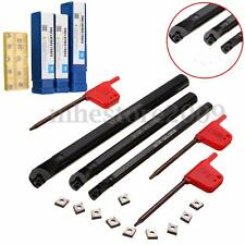 10Pcs CCMT0602 Insert & SCLCR 7x125mm 10x125mm 12x150L Lathe Boring Bar Holder
