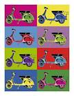 VESPA Vintage Pop QUALITY Canvas Art Print Retro Scooter Poster B