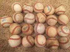 Large LOT of 21 League ALL LEATHER practice baseballs