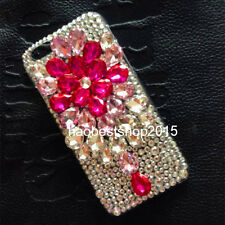 Luxury Bling Handmade Diamonds Pearls Crystal Soft Back TPU Case Cover Skin