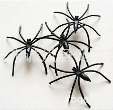 FD621 Halloween Plastic Lovely Spider Joking Toy Decoration Realistic Prop 10PCs