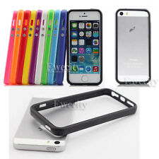 10PCS Colors Frame Hard Rubber TPU Bumper Cases For Apple iPhone 5 5G 5S
