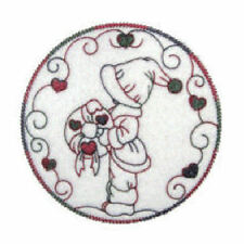 1098:  Machine Embroidery Designs - Winter Sunbonnets - Boys - Redwork