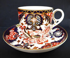 Imari Royal Crown Derby Kings Pattern 383 Tea Cup Saucer Bone China 1904 Antique