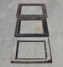 OLD ANTIQUE VTG IRON WALL GRATE SURROUND HEAT VENT ORNATE FRAME REPURPOSE LOT
