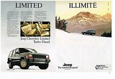 Publicité Advertising 1990 (2 pages) Renault 4X4 Jeep Cherokee Limited