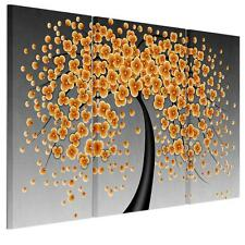 Modern HD Canvas Print Home Decor Wall Art Painting -Yellow Flower Tree Unframed