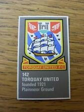 1971/1972 Bartholomew Football Map Club Badge (Cut-Out): 142 - Torquay United