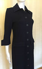 St. John Long Jacket Coat Blazer Sweater Dress Nave Size 4, 6 Stunning