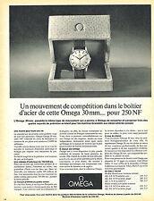 PUBLICITE ADVERTISING 015  1962  OMEGA  collection montres boitier acier