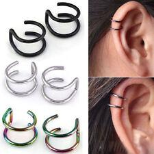 Punk Clip-on Earrings Non-piercing Cartilage Cuff Eardrop Ear Clip Jewelry