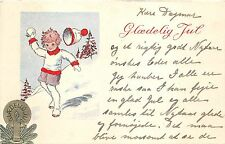 B4102 Denmark 1 Little girl and a christmas tree  front/back scan