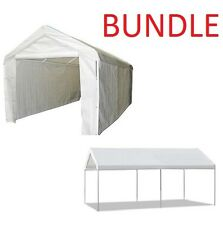 Carport Garage 10' X 20' Domain Shelter Canopy Camping with Sidewall/Enclosure